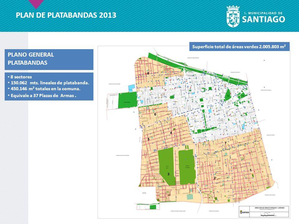 PLAN DE PLATABANDAS 2013 PLANO GENERAL PLATABANDAS