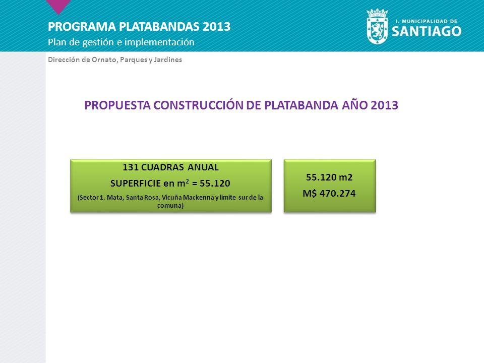 PROPUESTA CONSTRUCCIÓN DE PLATABANDA AÑO 2013