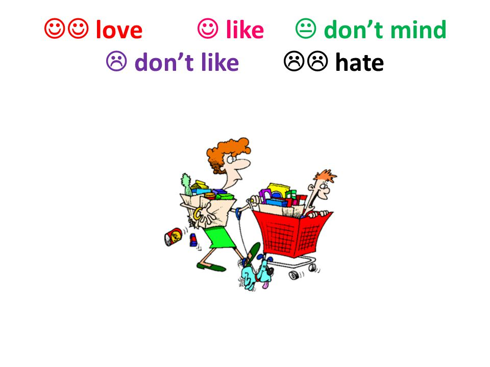  love  like  don't mind  don't like  hate