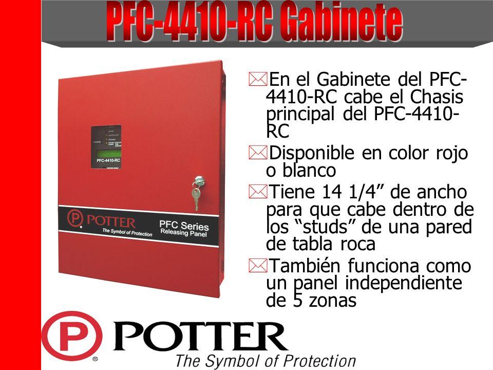 PFC-4410-RC Gabinete En el Gabinete del PFC-4410-RC cabe el Chasis principal del PFC-4410-RC. Disponible en color rojo o blanco.