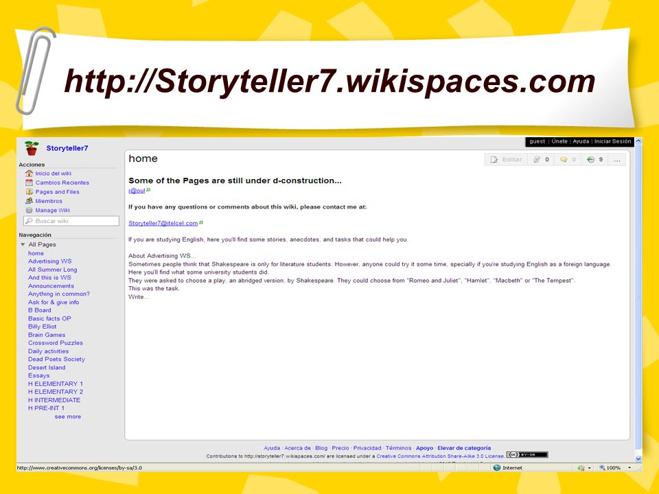 http://Storyteller7.wikispaces.com
