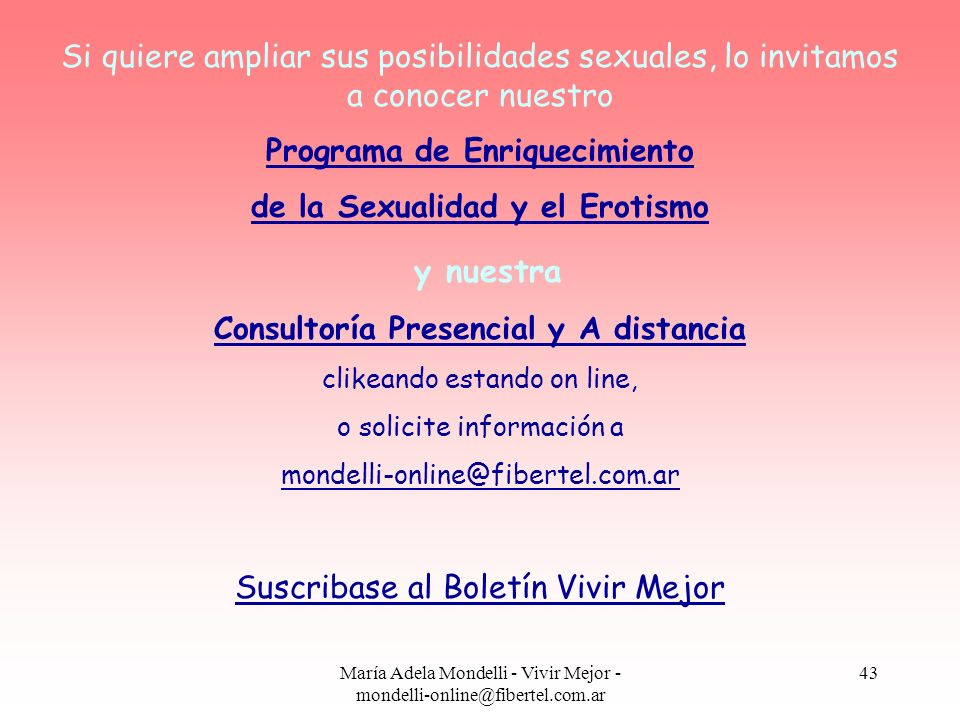 Si quiere ampliar sus posibilidades sexuales, lo invitamos a conocer nuestro