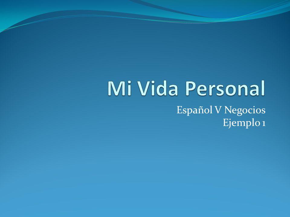 Español V Negocios Ejemplo 1