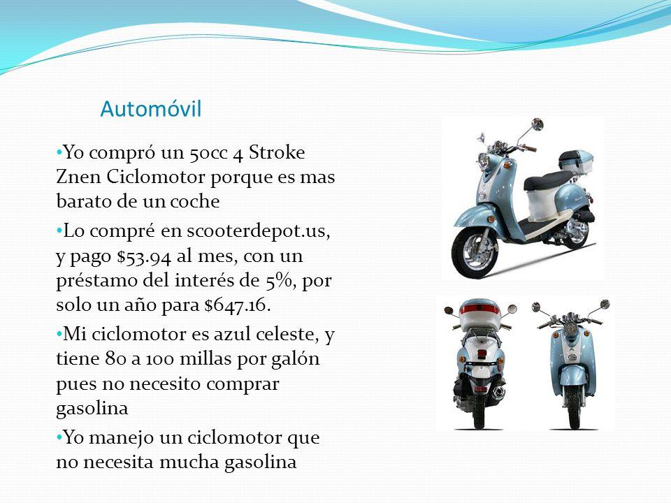 Automóvil Yo compró un 50cc 4 Stroke Znen Ciclomotor porque es mas barato de un coche.