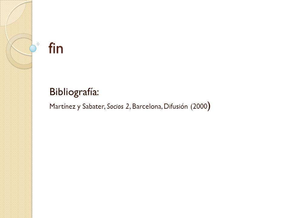 Bibliografía: Martínez y Sabater, Socios 2, Barcelona, Difusión (2000)