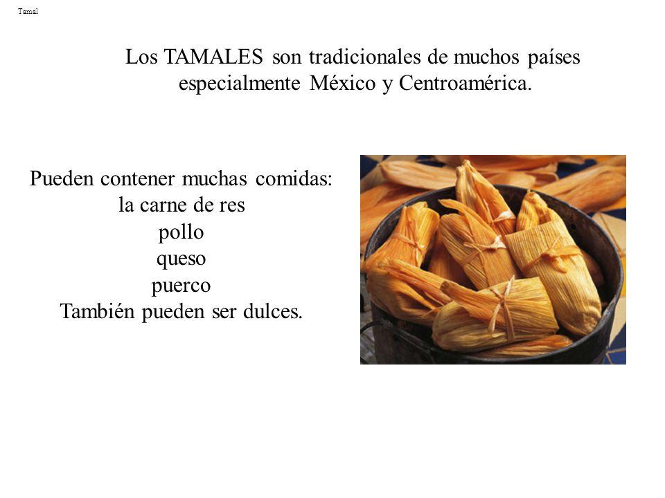Los TAMALES son tradicionales de muchos países