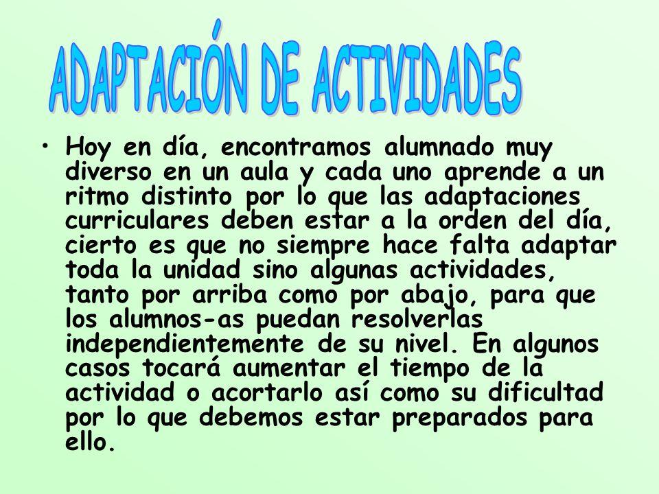 ADAPTACIÓN DE ACTIVIDADES