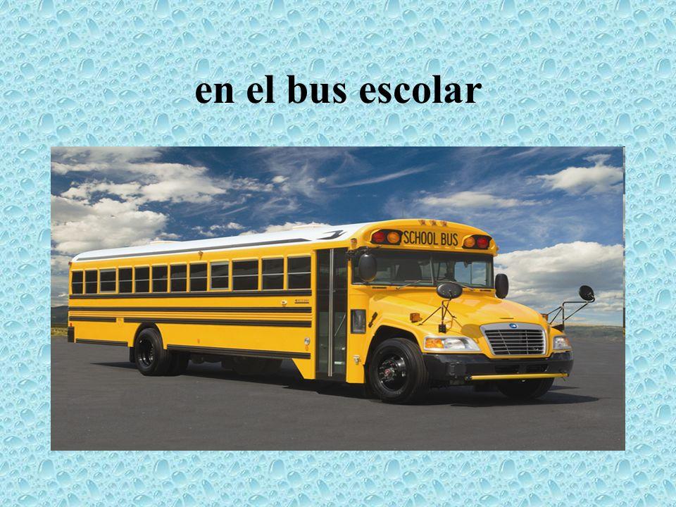 en el bus escolar