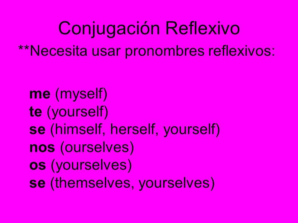 Conjugación Reflexivo