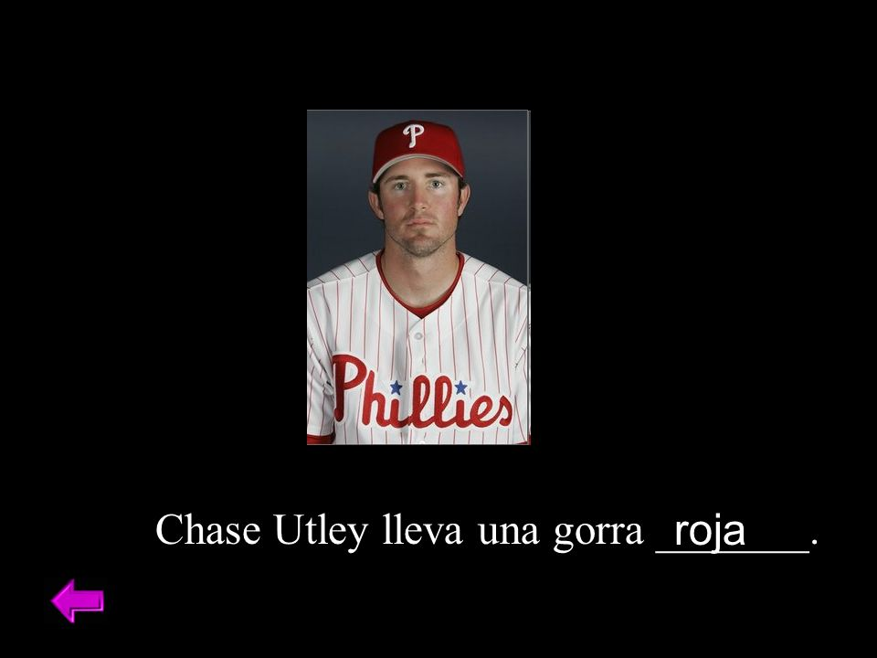 Chase Utley lleva una gorra _______.