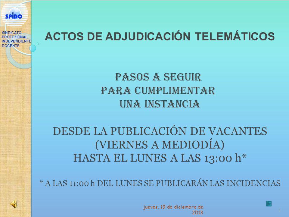 ACTOS DE ADJUDICACIÓN TELEMÁTICOS