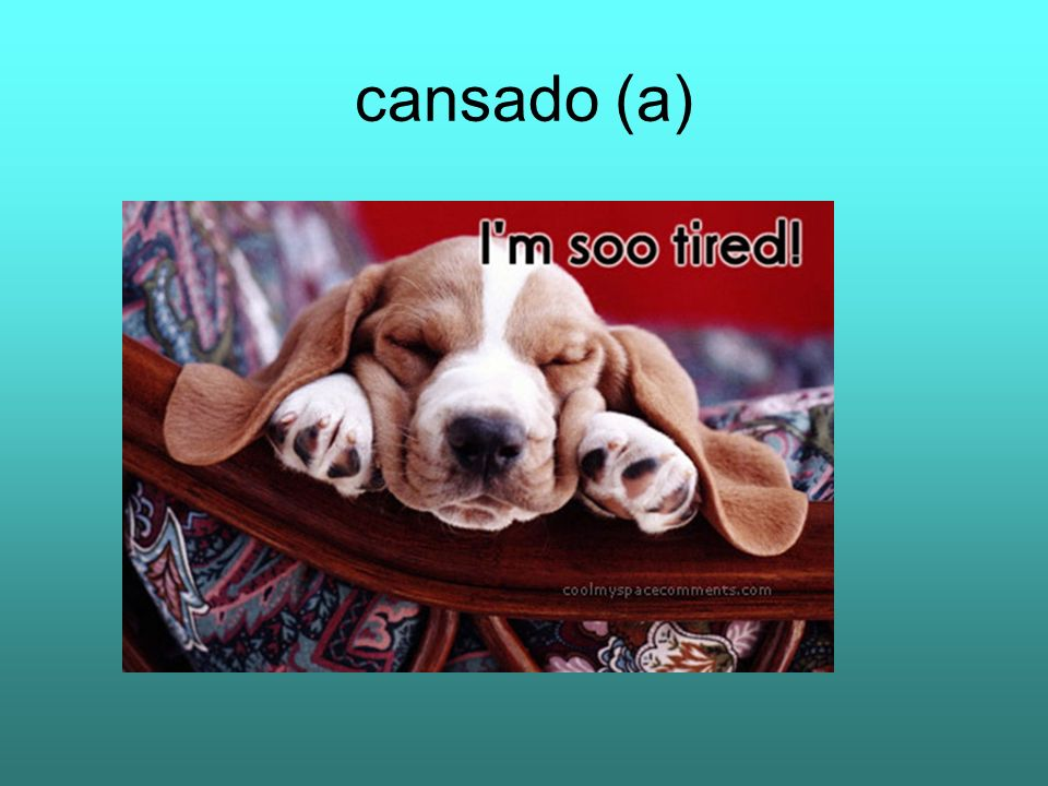 cansado (a)