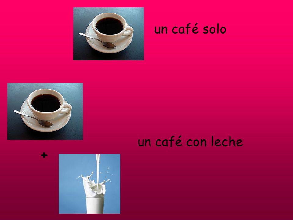 un café solo un café con leche
