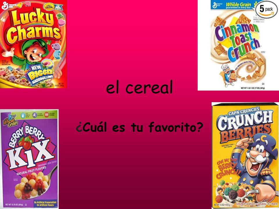 el cereal ¿Cuál es tu favorito