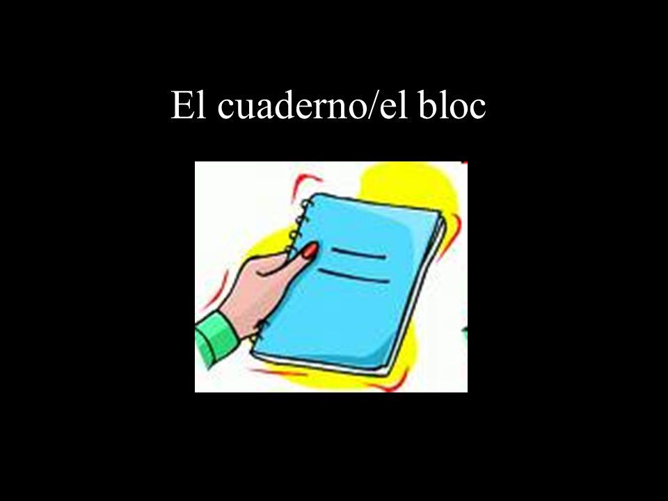 El cuaderno/el bloc