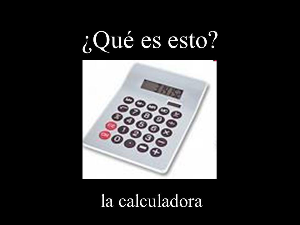 ¿Qué es esto la calculadora
