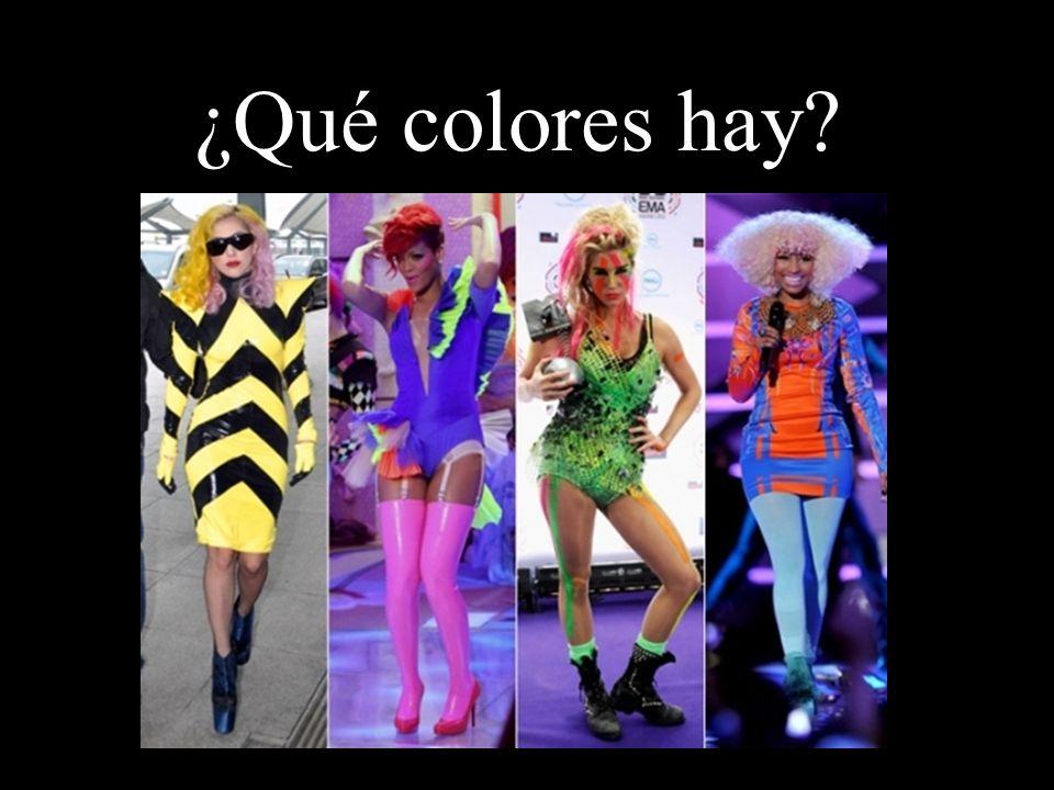 ¿Qué colores hay