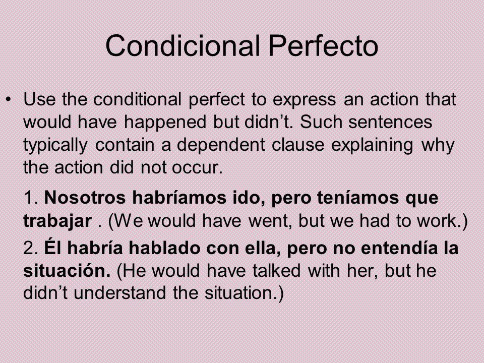 Condicional Perfecto