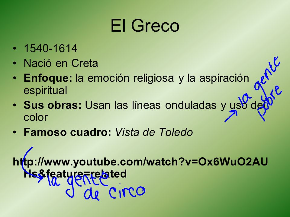 El Greco 1540-1614 Nació en Creta