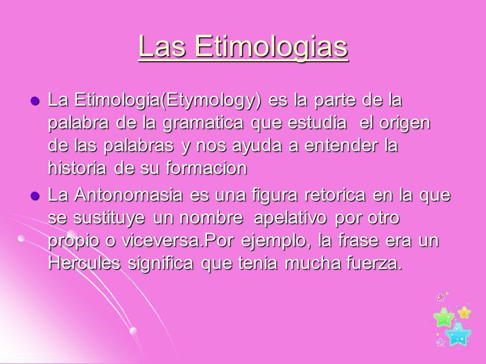 Las Etimologias