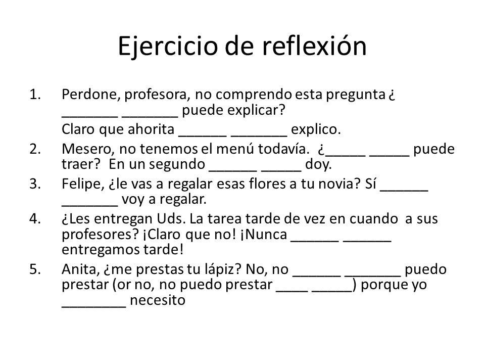Ejercicio de reflexión