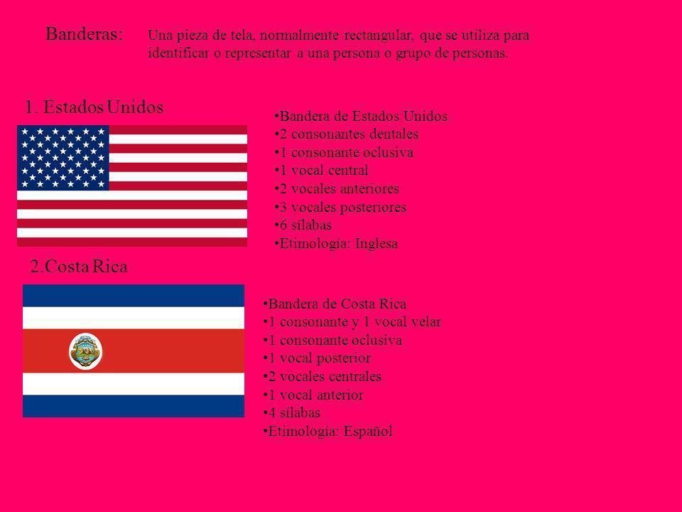 Banderas: 1. Estados Unidos 2.Costa Rica