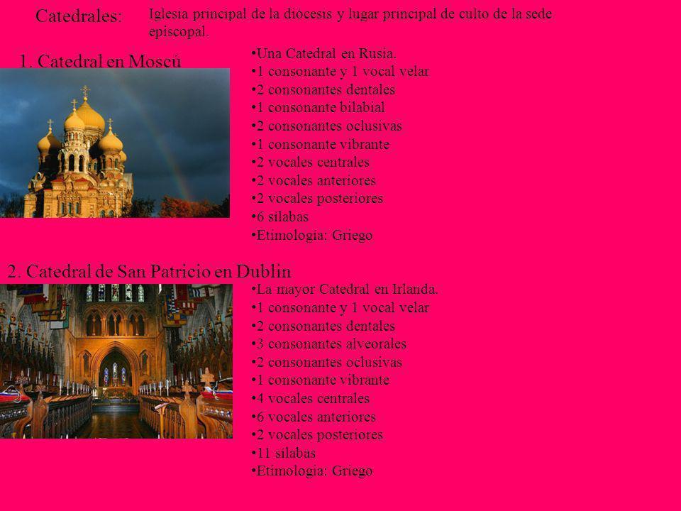 2. Catedral de San Patricio en Dublin