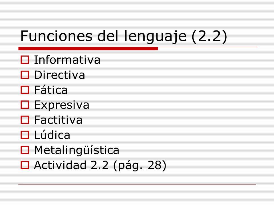 Funciones del lenguaje (2.2)
