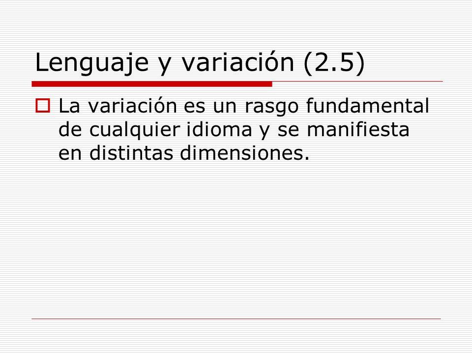 Lenguaje y variación (2.5)