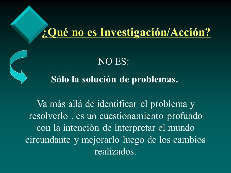 ¿Qué no es Investigación/Acción
