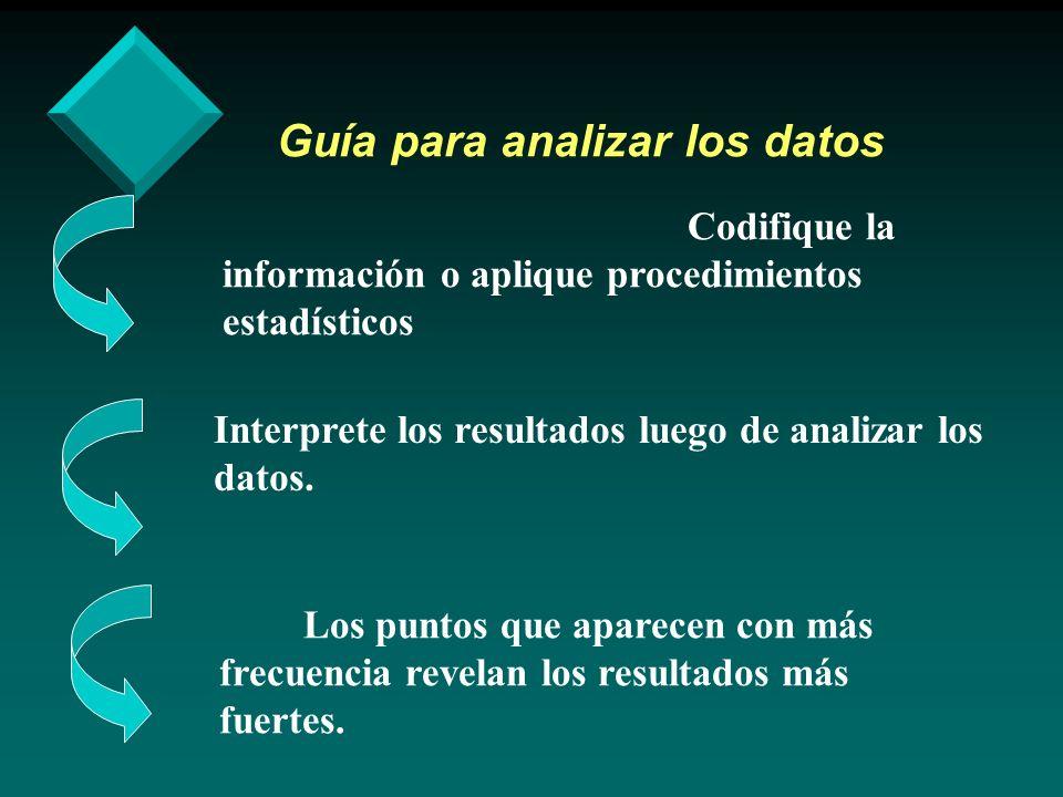 Guía para analizar los datos