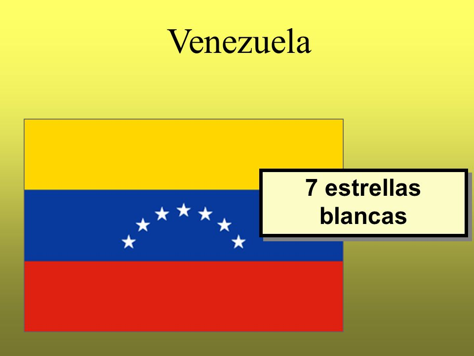 Venezuela 7 estrellas blancas