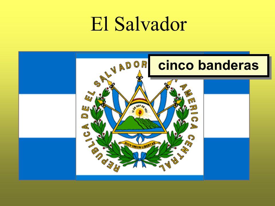 El Salvador cinco banderas