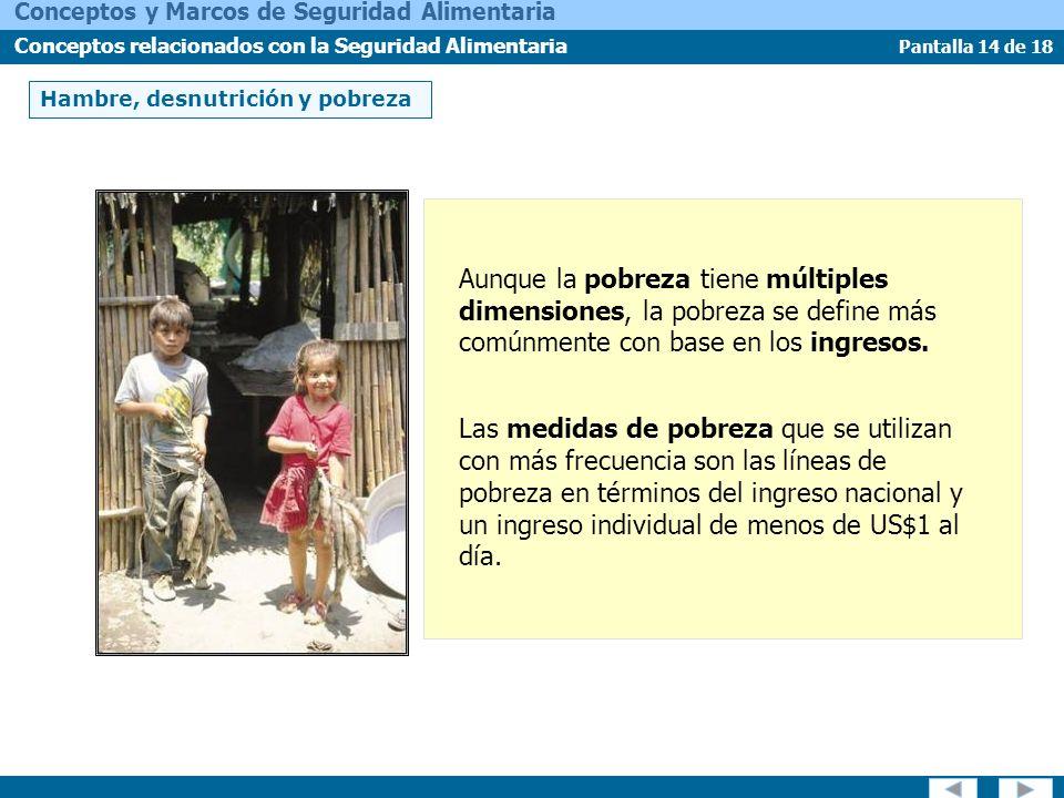 Hambre, desnutrición y pobreza