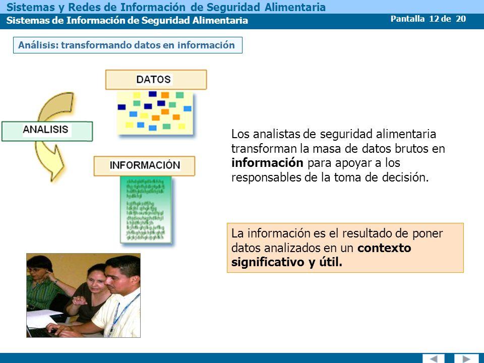 Análisis: transformando datos en información