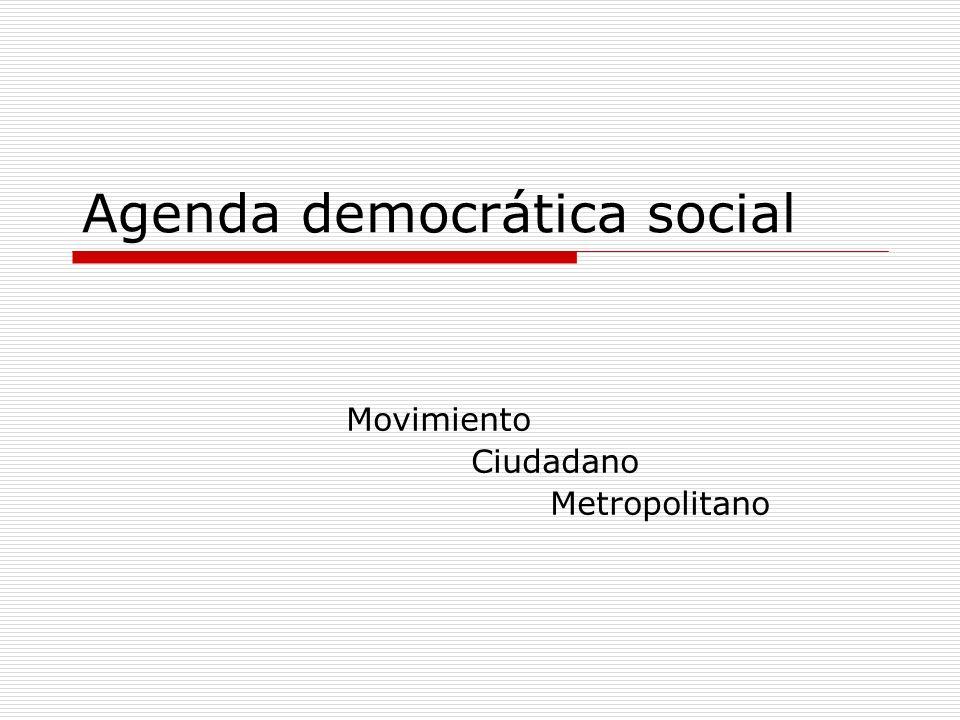 Agenda democrática social
