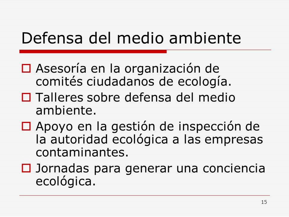 Defensa del medio ambiente