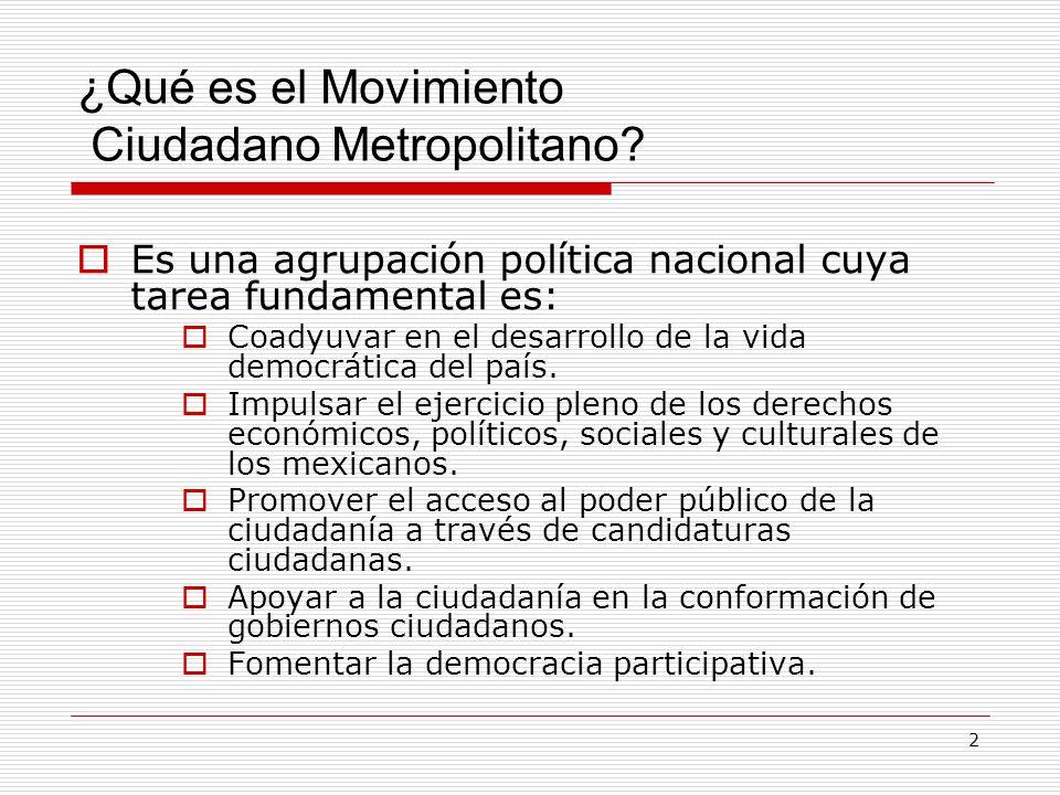 ¿Qué es el Movimiento Ciudadano Metropolitano
