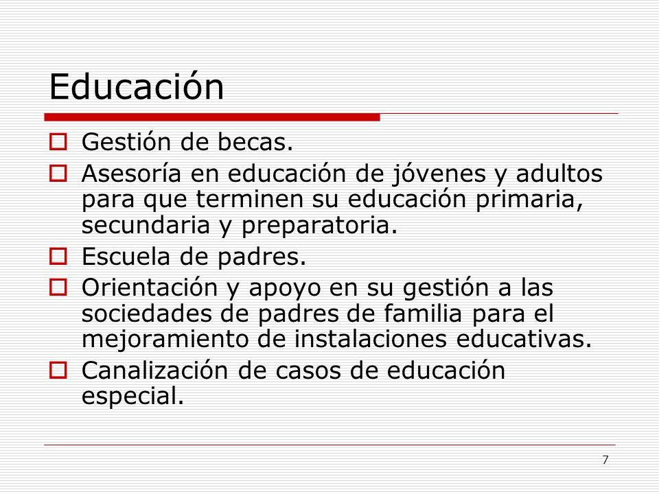 Educación Gestión de becas.