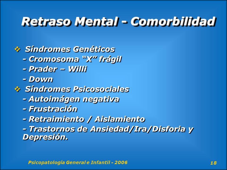 Retraso Mental - Comorbilidad