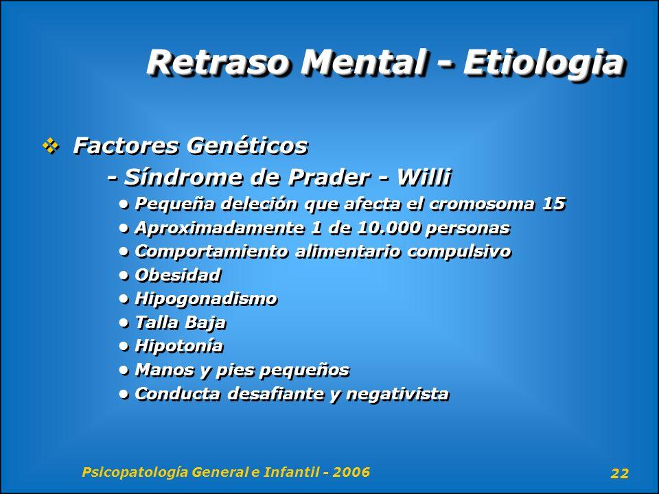 Retraso Mental - Etiologia