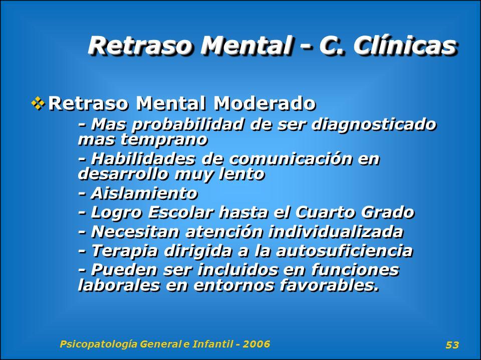 Retraso Mental - C. Clínicas