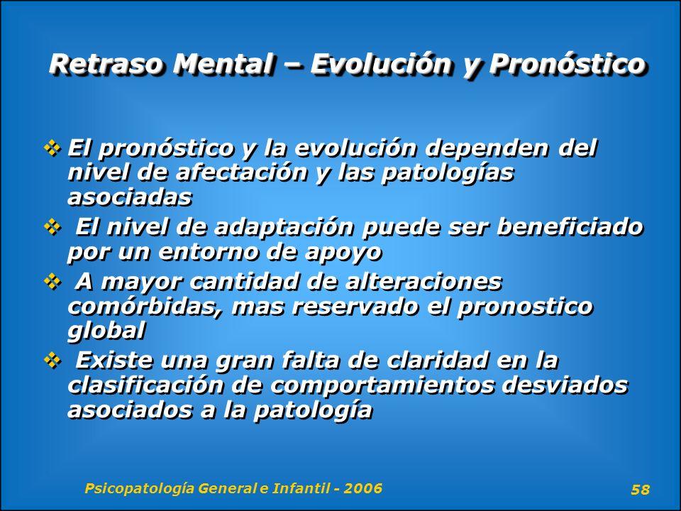 Retraso Mental – Evolución y Pronóstico