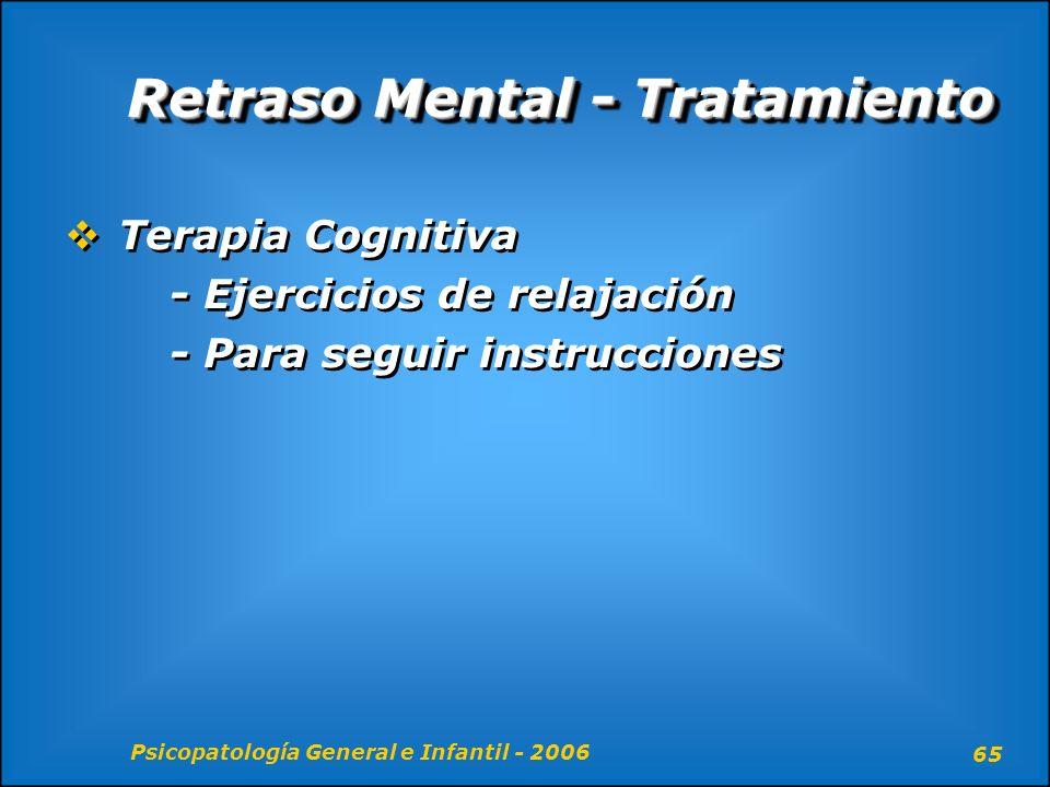Retraso Mental - Tratamiento