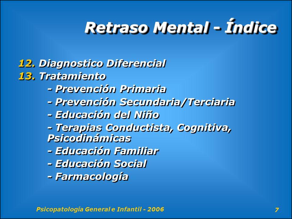 Retraso Mental - Índice