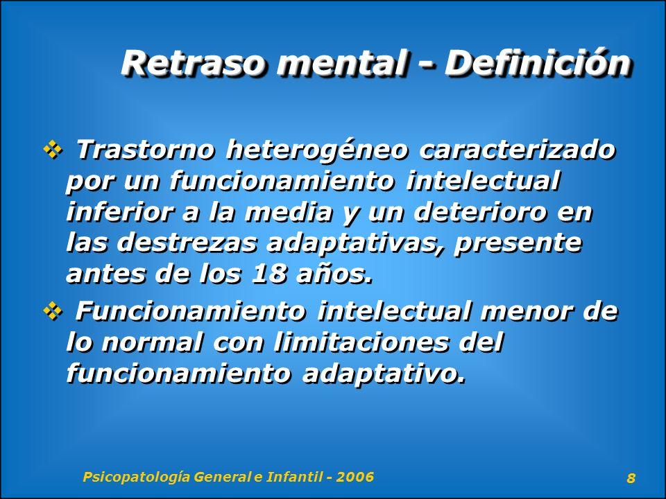 Retraso mental - Definición