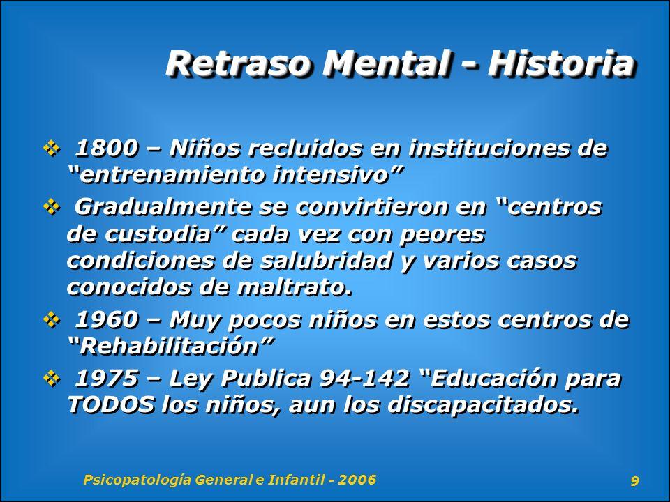 Retraso Mental - Historia