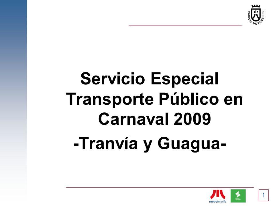 Servicio Especial Transporte Público en Carnaval 2009