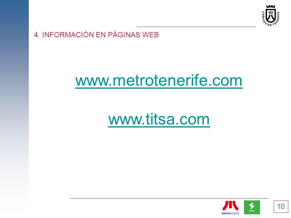 4. INFORMACIÓN EN PÁGINAS WEB
