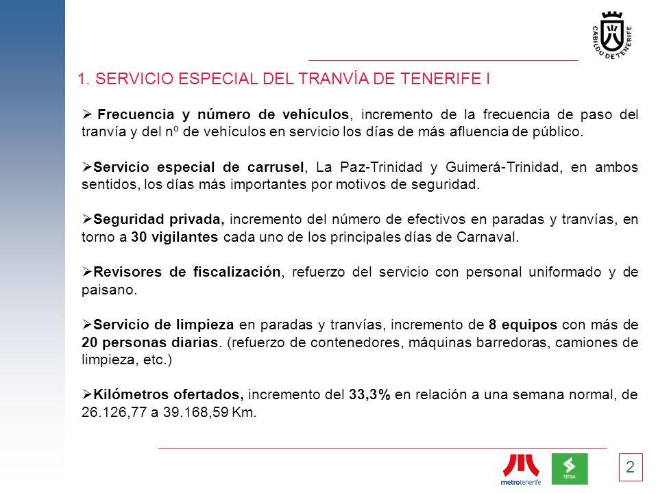 1. SERVICIO ESPECIAL DEL TRANVÍA DE TENERIFE I